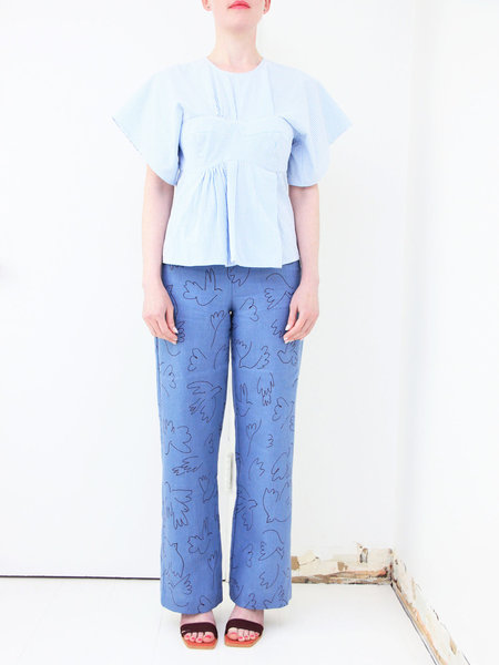 Paloma Wool Eleonora Linen Trousers - Soft Blue