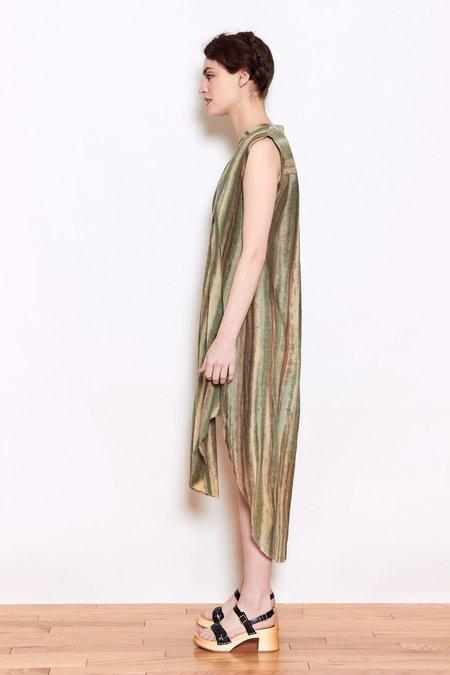 Launderette Olivia Dress - Green Combo
