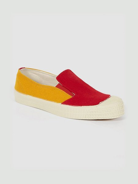 Universal Works x Novesta UW slip on - mustard/red