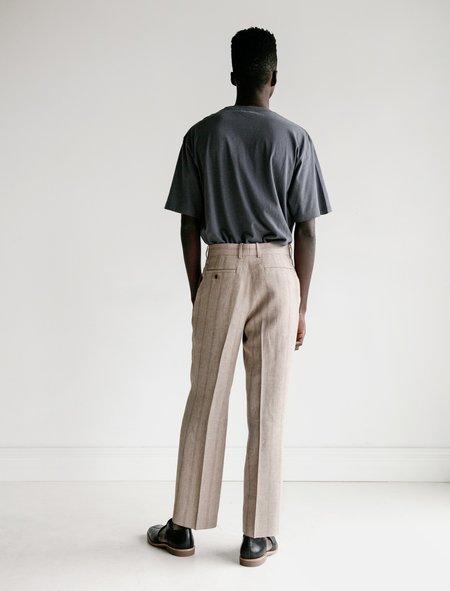 Auralee Linen Wool Silk Shark Skin Slacks