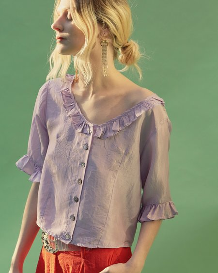 No.6 Georgia Ruffle Top - Lilac