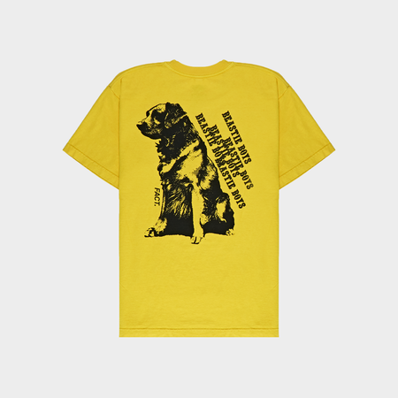 Fact Brand Beastie Boys Dog Short Sleeve Tee - Yellow