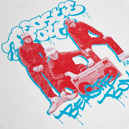 Fact Brand Beastie Boys Photo Short Sleeve Tee - White