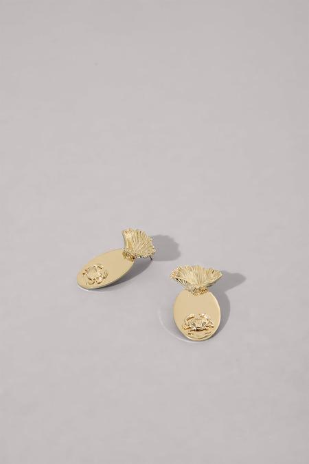 Anne Thomas Crustacés Earrings - 18k Gold