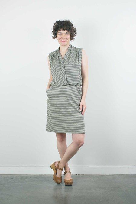 Sarah Liller Lorie Dress - Limoncello Stripe