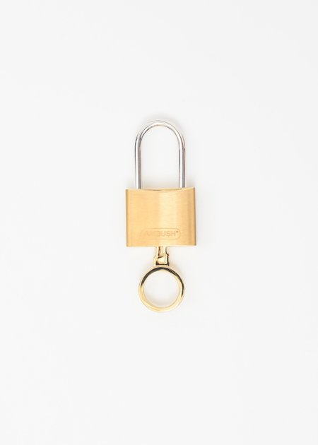 Ambush Padlock Key Ring - Gold