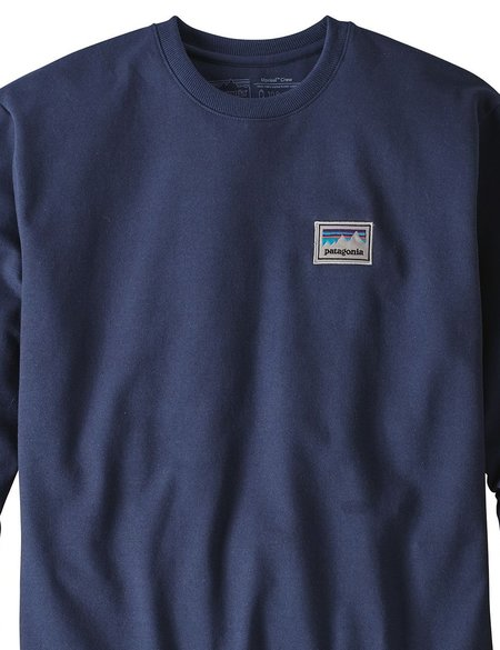 Patagonia Shop Sticker Patch Uprisal Crew Sweatshirt - Classic Navy Blue