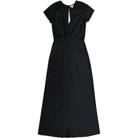 ali golden V-NECK MAXI DRESS - black