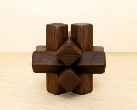 Kids Saikai Large Wooden Puzzle - Walnut