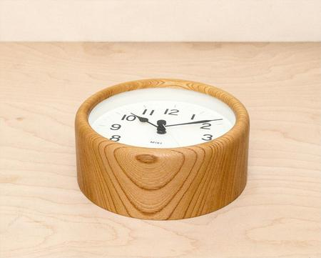 Lemnos Small Round Clock - Natural