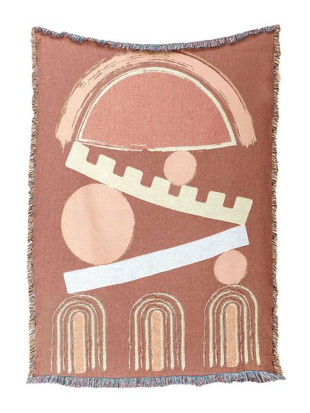 San Junipero Textile Studio Balance Throw - terracotta