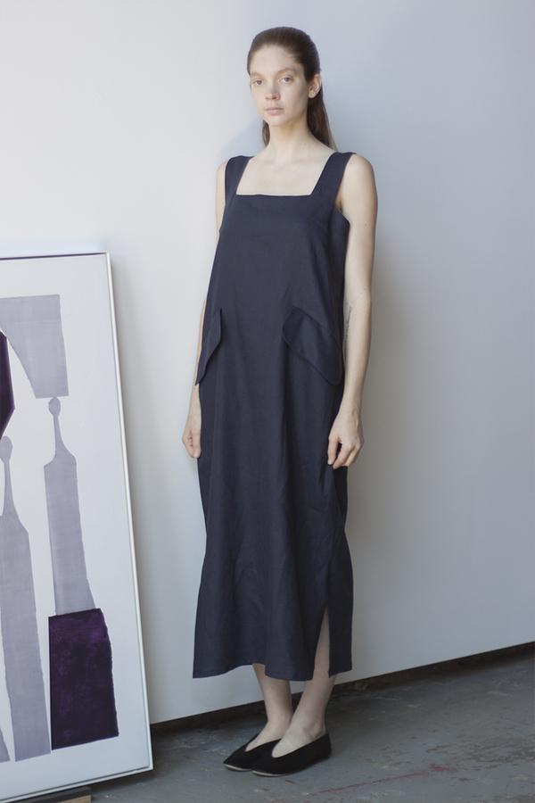 Sunja LInk Flap Pocket Dress