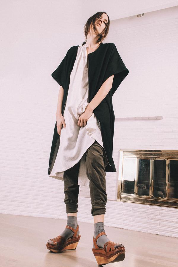 Kate Towers zip up smock Coat