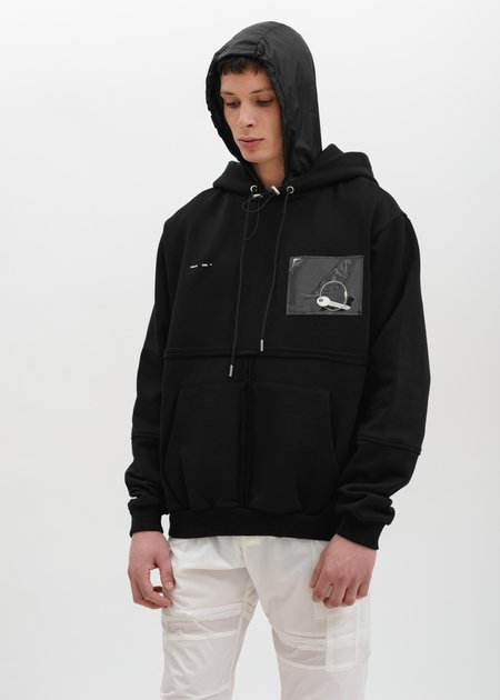 Heliot Emil Hoodie with PVC Details - Black