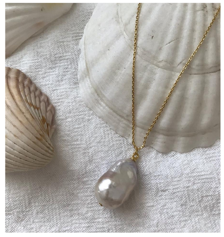 Vayu Baroque Pearl Necklace - Fresh Water Pearl