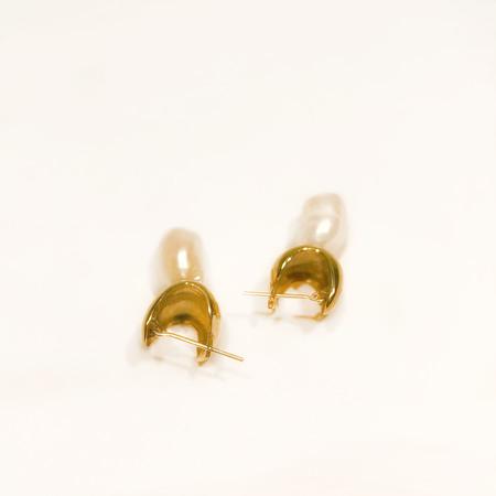 FARIS JEWELRY pearl chub drops - Bronze