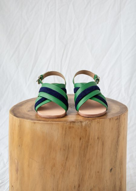 A Détacher Blackwell Sandal - Green Leather