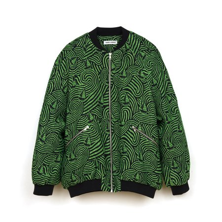 Henrik Vibskov Breath in Bomber - Green/Black