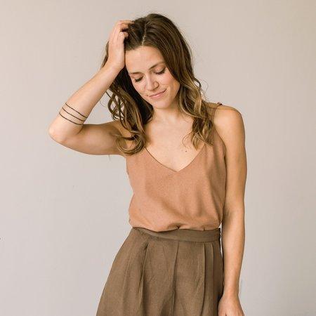 Ozma Silk Noil Camisole - Sand