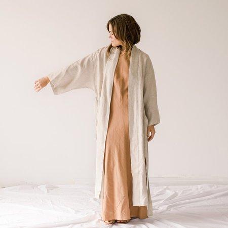 Ozma Linen Robe Jacket - Raw