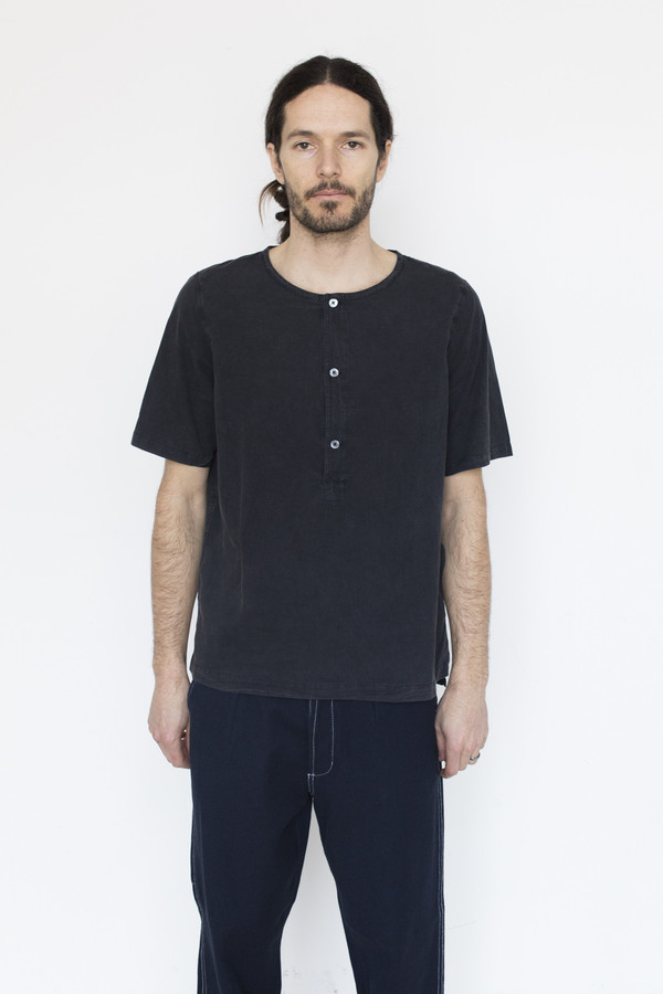 Our Legacy Cotton Henley Shirt