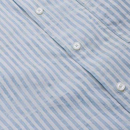 Corridor Marijuana Jacquard Shirt - Blue Stripe