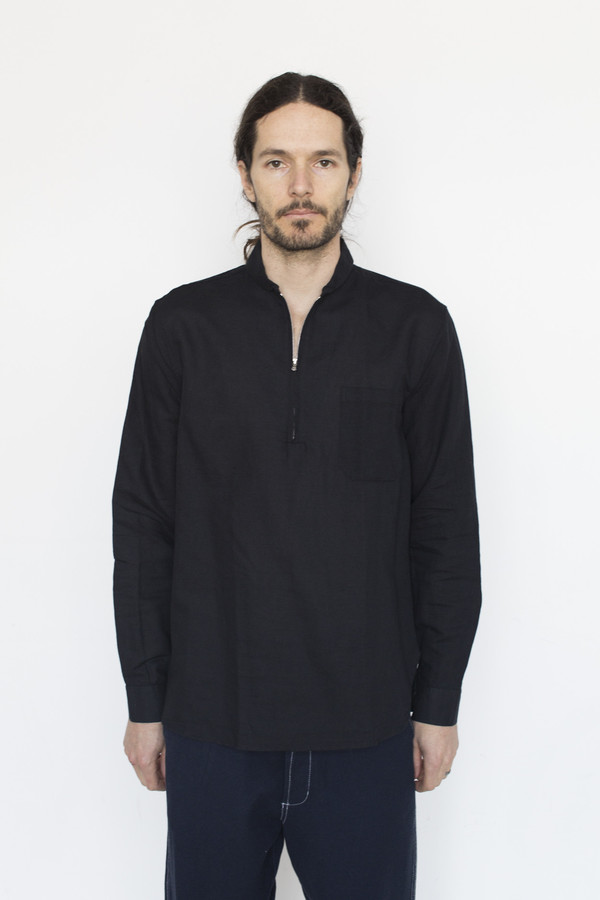 Our Legacy Linen Shawl Zip Shirt