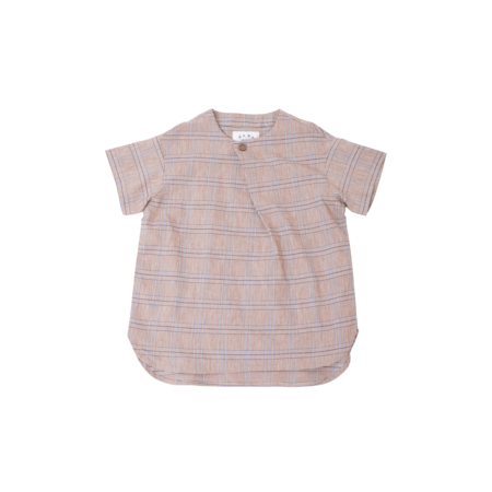 unisex kids East End Highlanders Skew Shirt - Brown Plaid