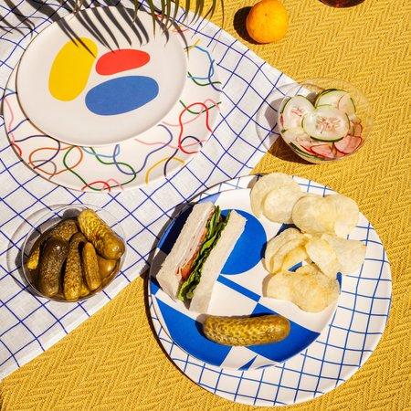 Poketo Bamboo Dinner Plates - Outline Set