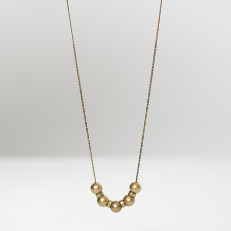 7115 by Szeki Brass Sphere Necklace