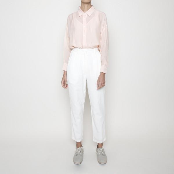7115 by Szeki High Waisted Trouser- White SS16