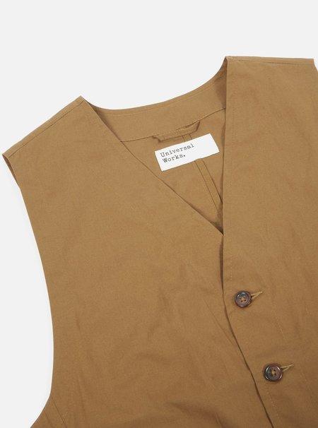Universal Works Field Waistcoat - Khaki Poplin