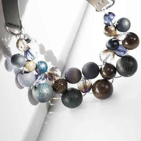 Peserico Large Beads Necklace - Blue/Grey/Brown