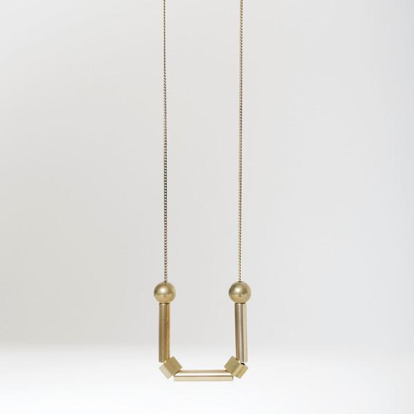 7115 by Szeki Sphere Cube Swing Necklace
