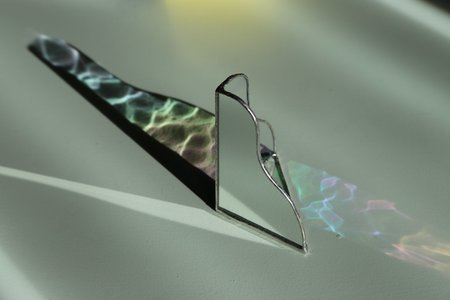 mansi shah glass and mirrored tabletop object