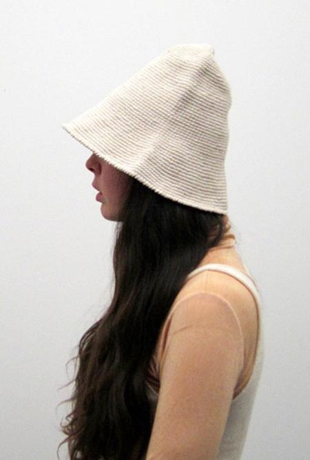 Lauren Manoogian Bell Hat - white
