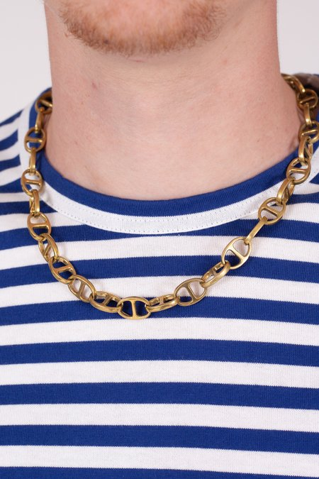 Maple Chain Link Necklace - Brass