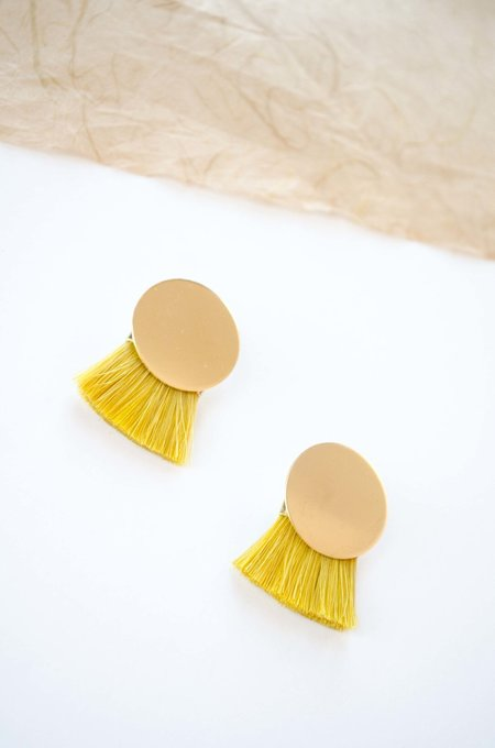 Anna Monet Iris earrings - Turmeric