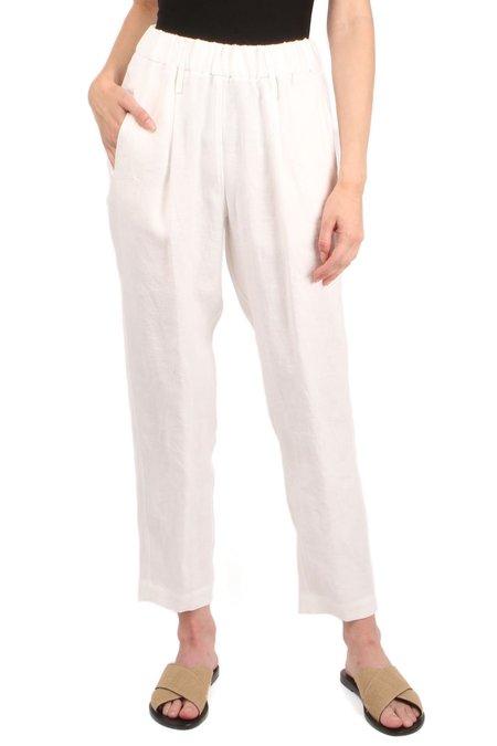 Forte Forte Fiandra Linen Pants - White