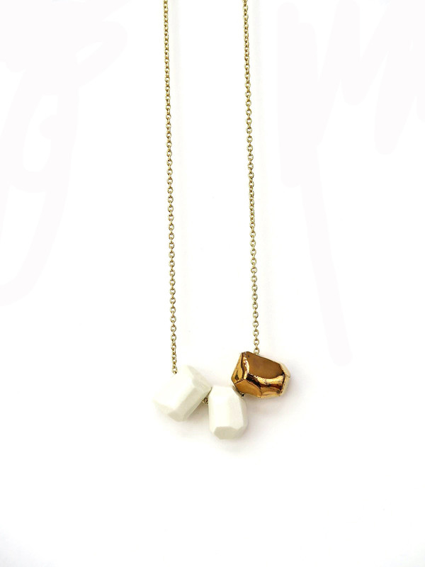 COFIELD Strata Necklace Trio With Gold