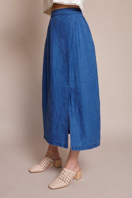 First Rite Pleated Skirt - Indigo
