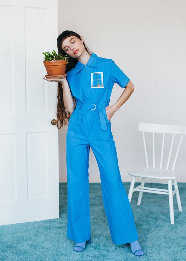 Samantha Pleet House Jumpsuit - Blue