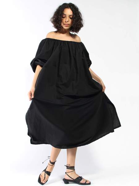 Miranda Bennett Rayon Cassatt Dress - BLACK