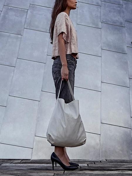 Ellen Truijen Kimono Medium Tote Bag - Chalk