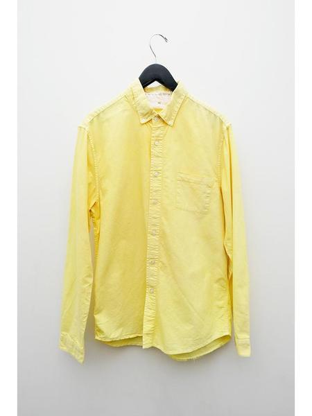 Audrey Louise Reynolds Organic Cotton Oxford Button Down Shirt - Turmeric