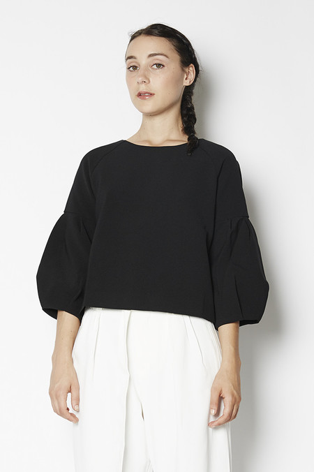Blaque Label Bubble Sleeved Crop Top