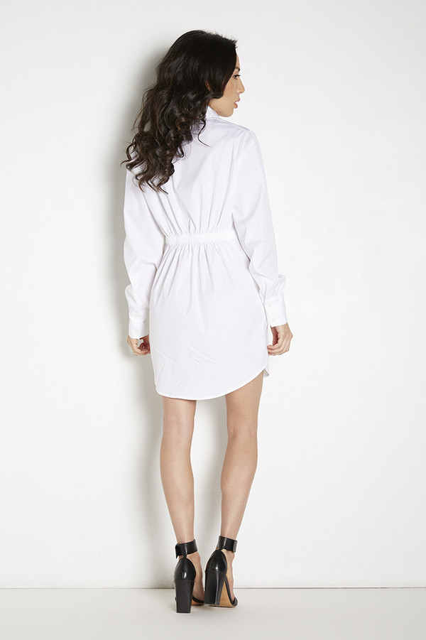Tina Blossom Draped Shirt Dress