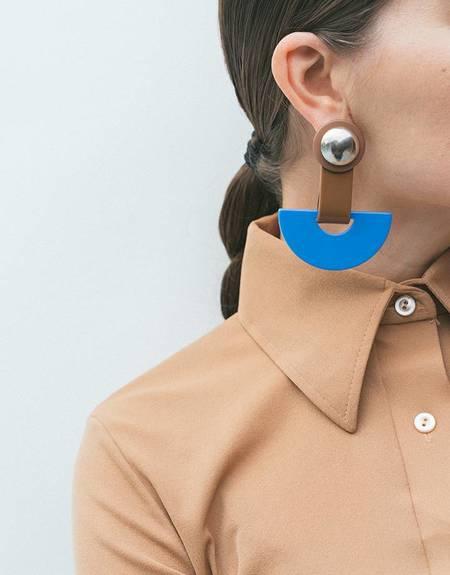 Rachel Comey Zora Earrings - Blue/Brown