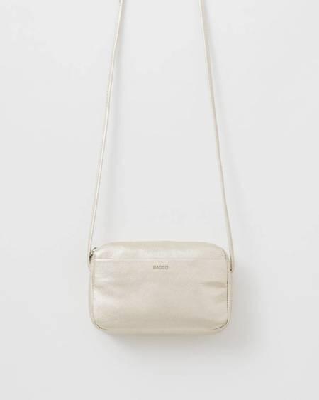 BAGGU Leather Mini Purse - Platinum