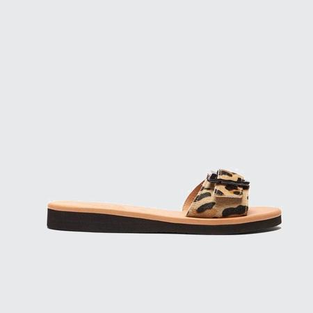 Ancient Greek Sandals Aglaia Flat Slide - Leopard